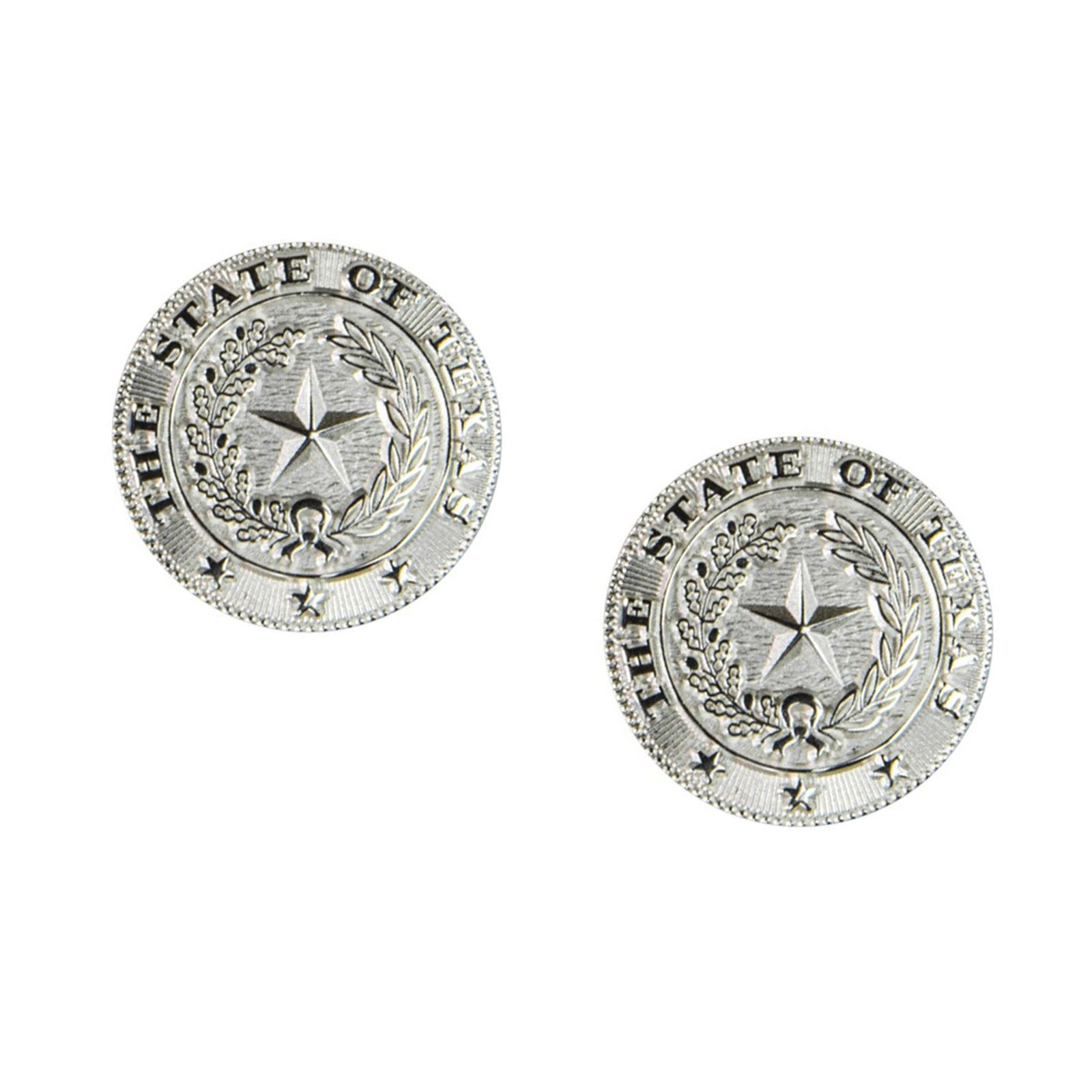 Texas State Seal Silver-Plated Earrings