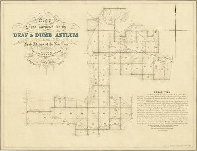 R. Creuzbaur Map of Asylum Lands - Eastland and Comanche Counties, 1857