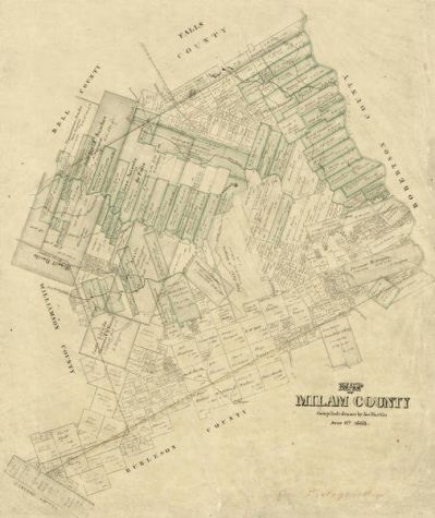 Joseph Martin Milam County, 1868