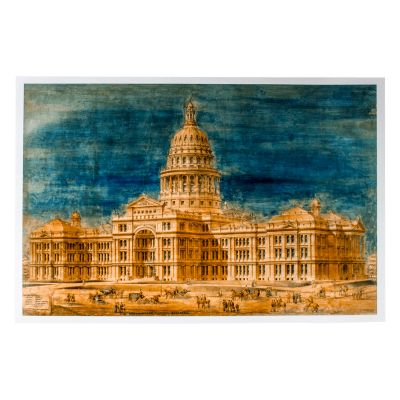 Elijah E. Meyers Texas Capitol Watercolor Print