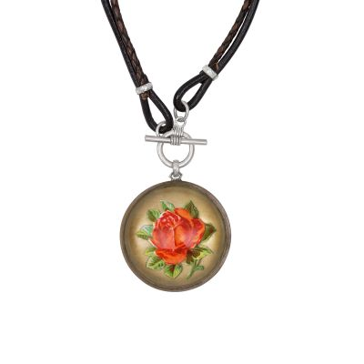 My Mother's Buttons Rose Bridal Rosette Necklace