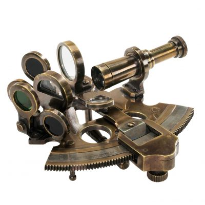 Replica Maritime Bronze Pocket Sextant