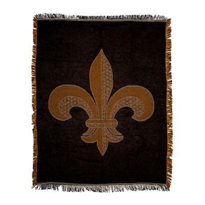 Fleur de Lis Cotton Jacquard Throw