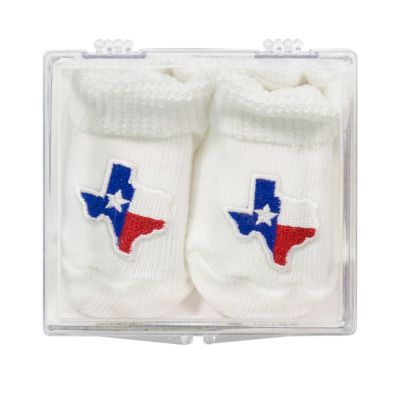 White Booties with Shape of Texas