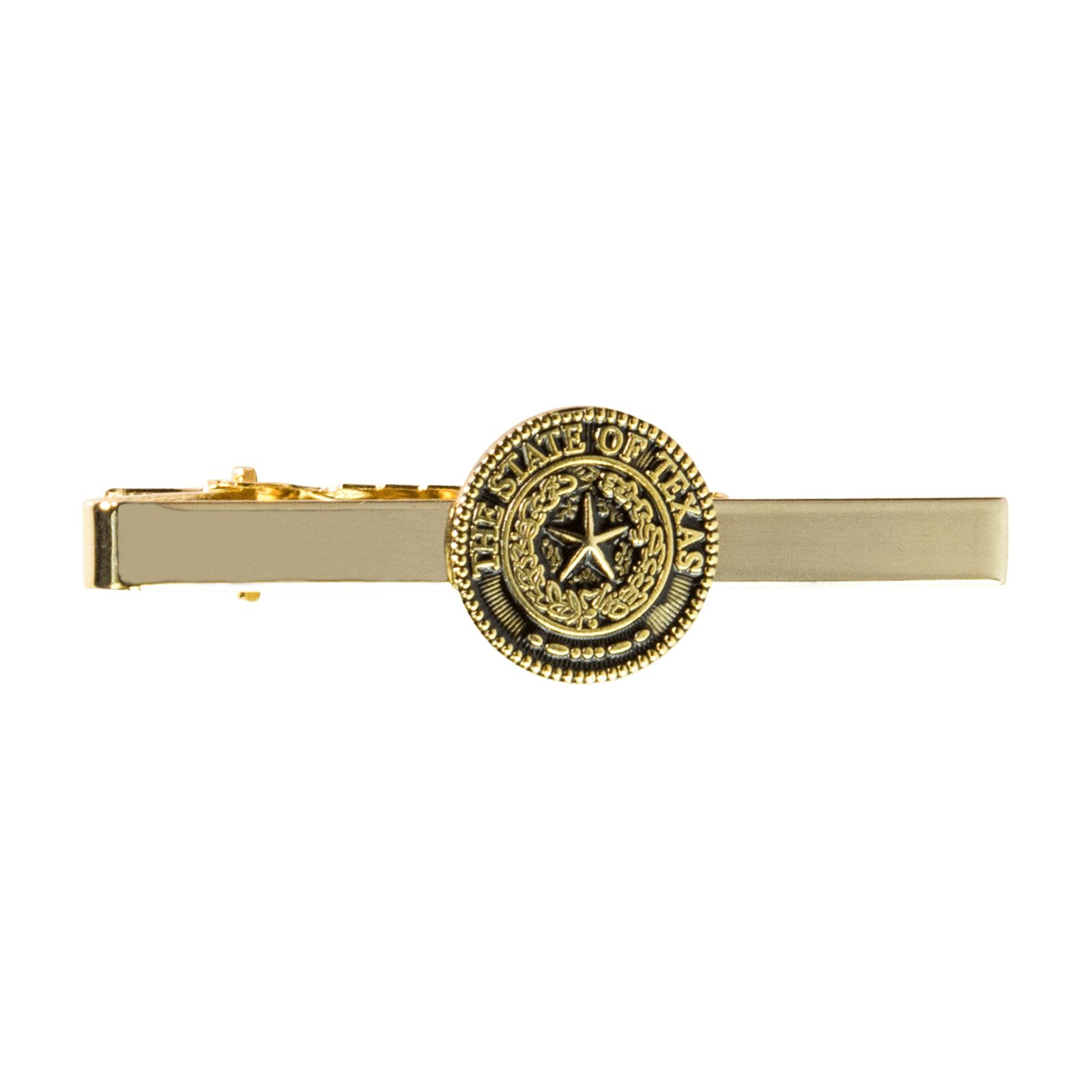 Texas State Seal Gold Tone Tie Bar