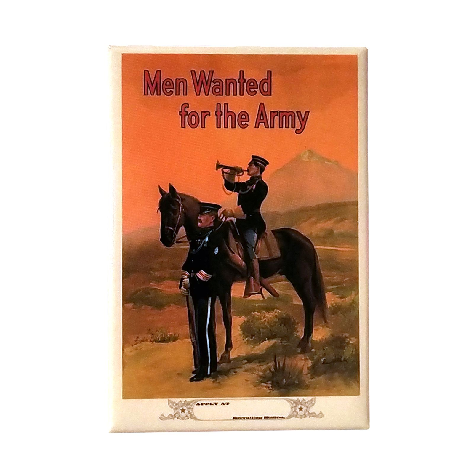 Men Wanted for the Army WWI Poster Magnet