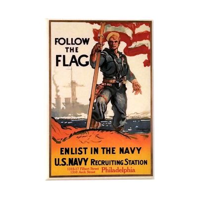 Follow the Flag WWI Poster Magnet