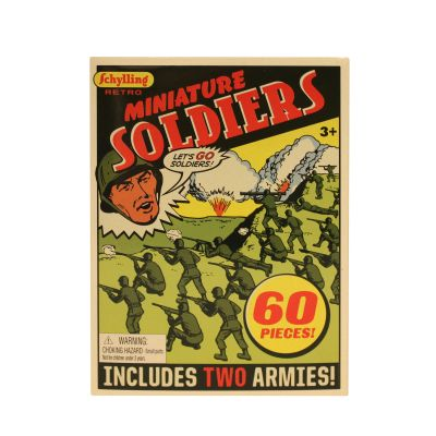 Schylling™ Miniature Army Men - 60 Pack