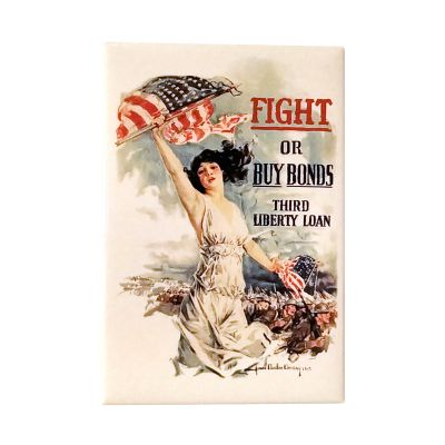 Fight or Buy Bonds WWI Poster Magnet
