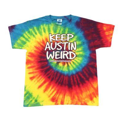 Keep Austin Weird Tie Dye Youth T-shirt