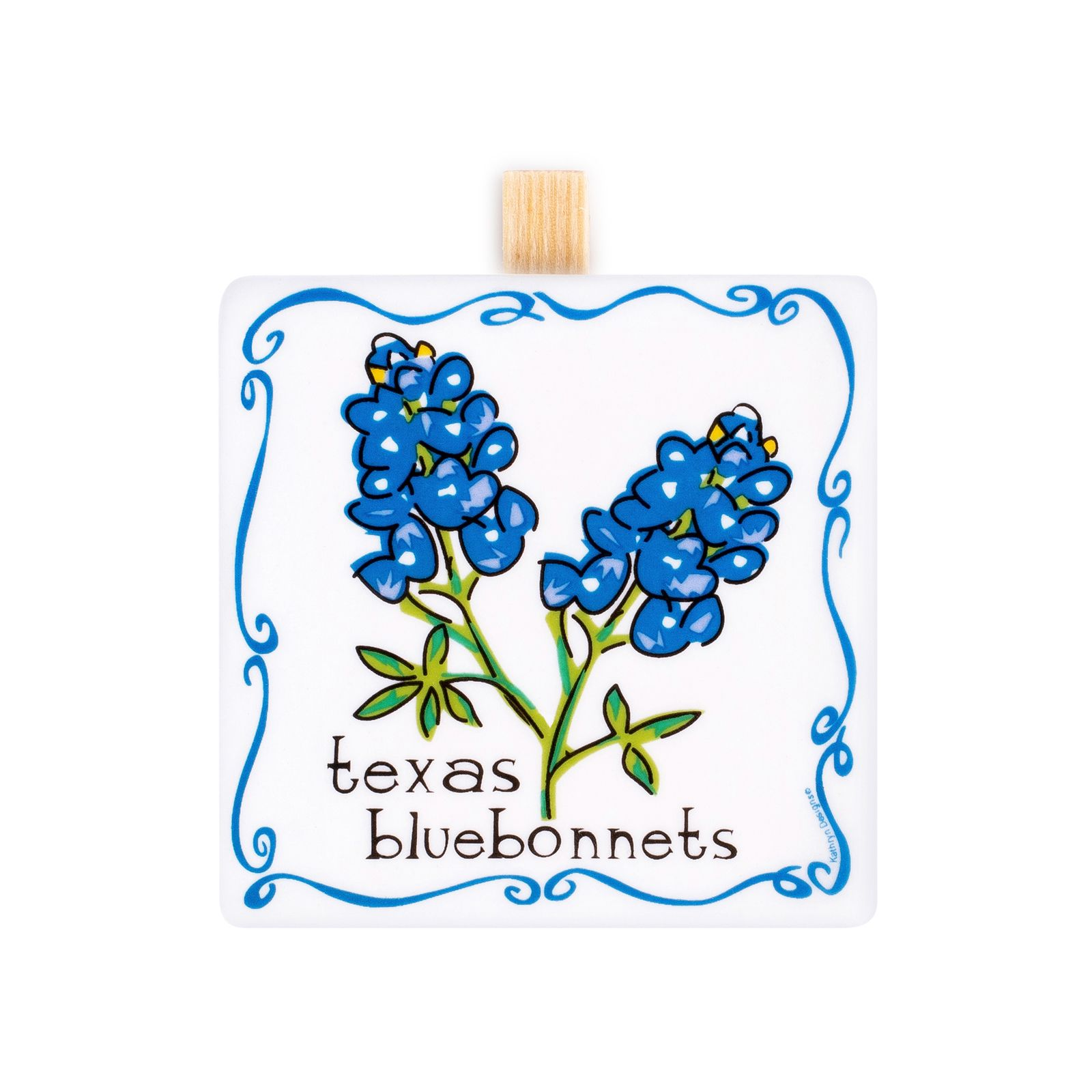 Texas Bluebonnet Ceramic Stand-up Message Clip