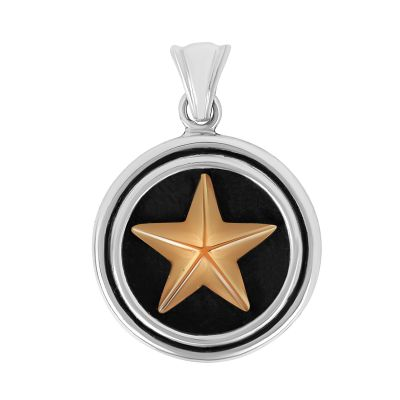 Sterling Silver Lone Star Large Pendant