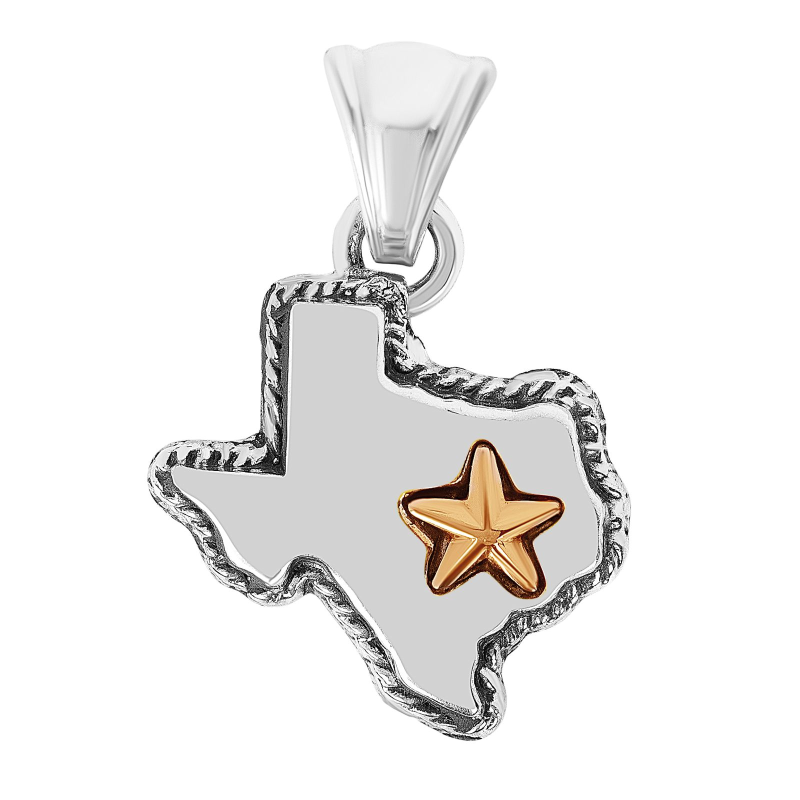 State of Texas Sterling Silver Small Pendant