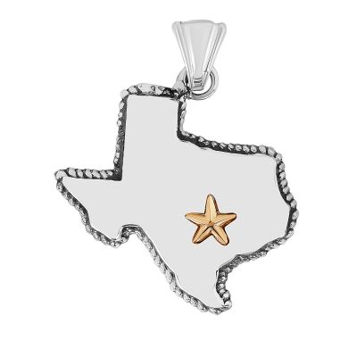 State of Texas Sterling Silver Large Pendant
