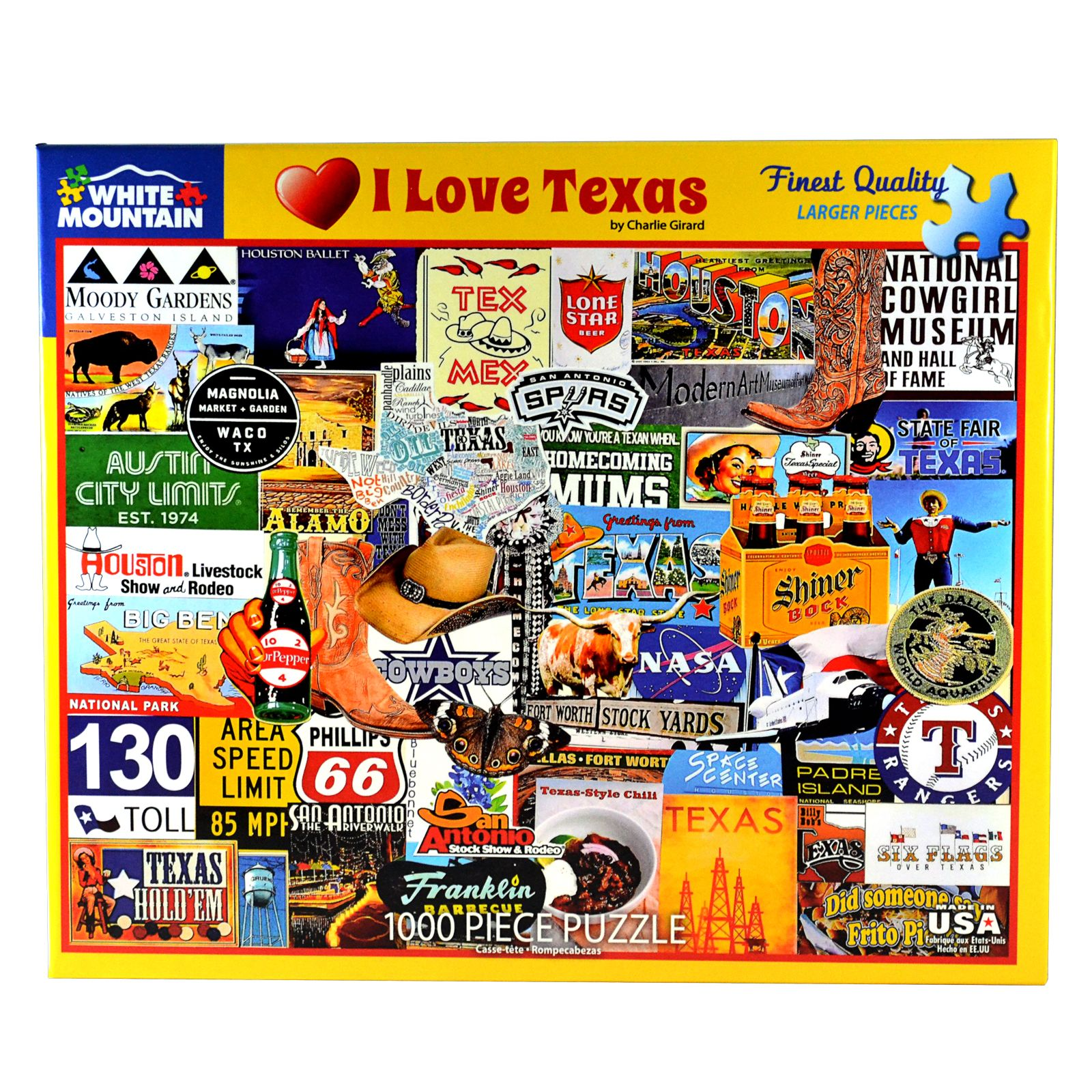 I Love Texas 1000 Piece Puzzle