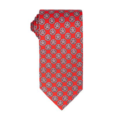 Texas Ranger Red Silk Tie