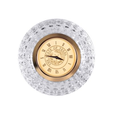 State Seal Crystal Golf Ball Clock