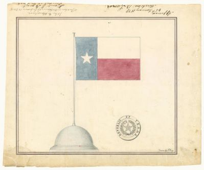 Peter Krag Design for Republic of Texas flag and seal, January 25, 1839