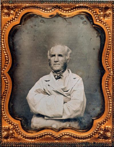 photographer unknown Sam Houston wearing white duster coat, c. 1859