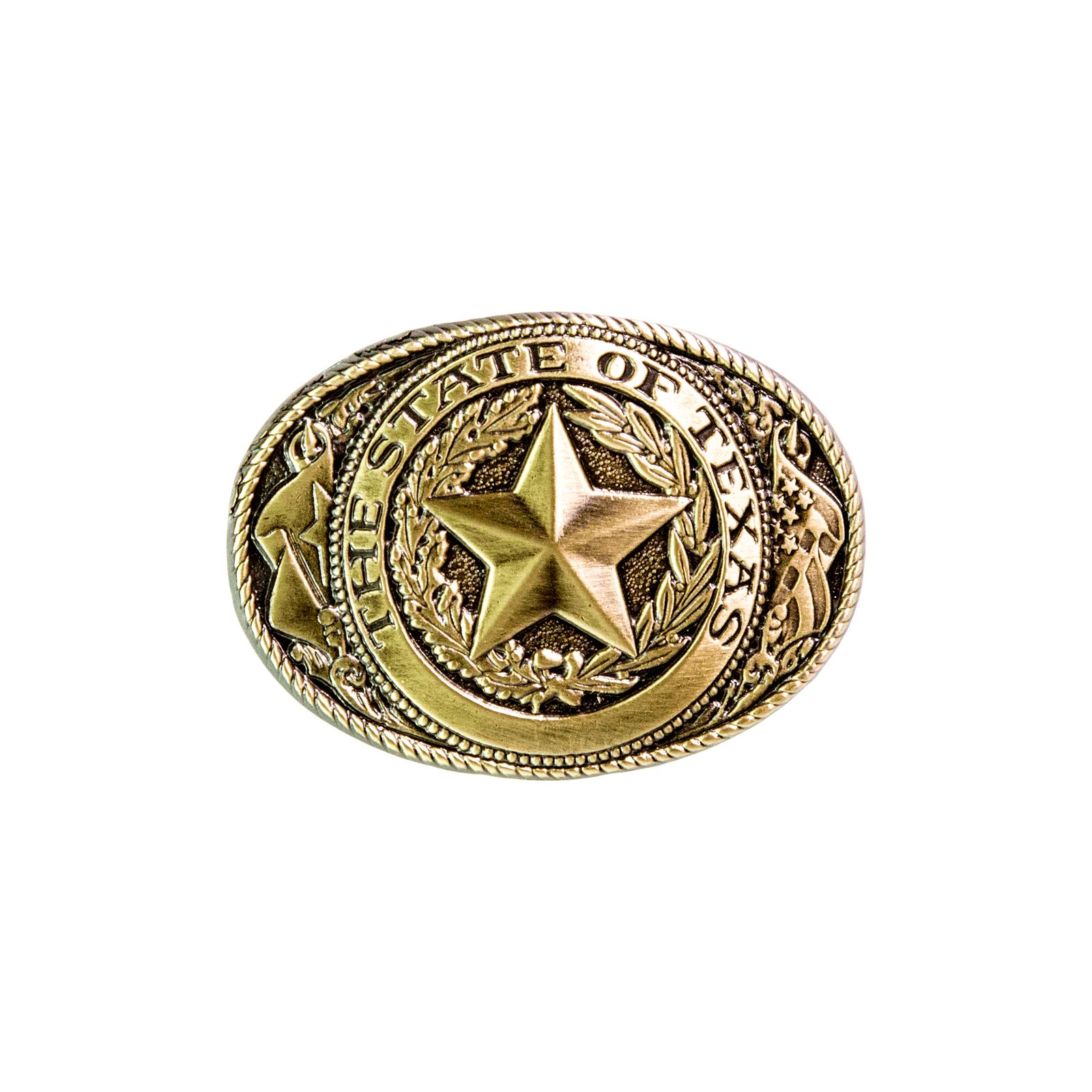 Mini Brass State Seal Belt Buckle