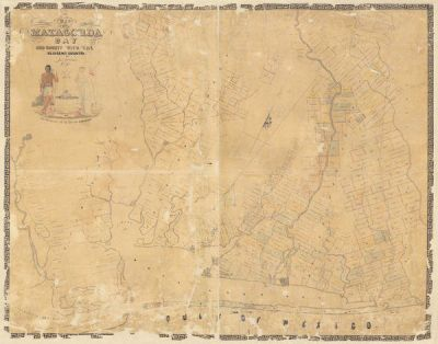 James H. Selkirk Map of Matagorda Bay and County with the Adjacent Country, 1839