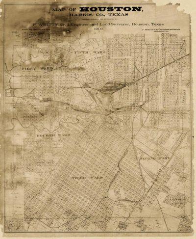 P. Whitty Houston, Harris County, Texas, 1900