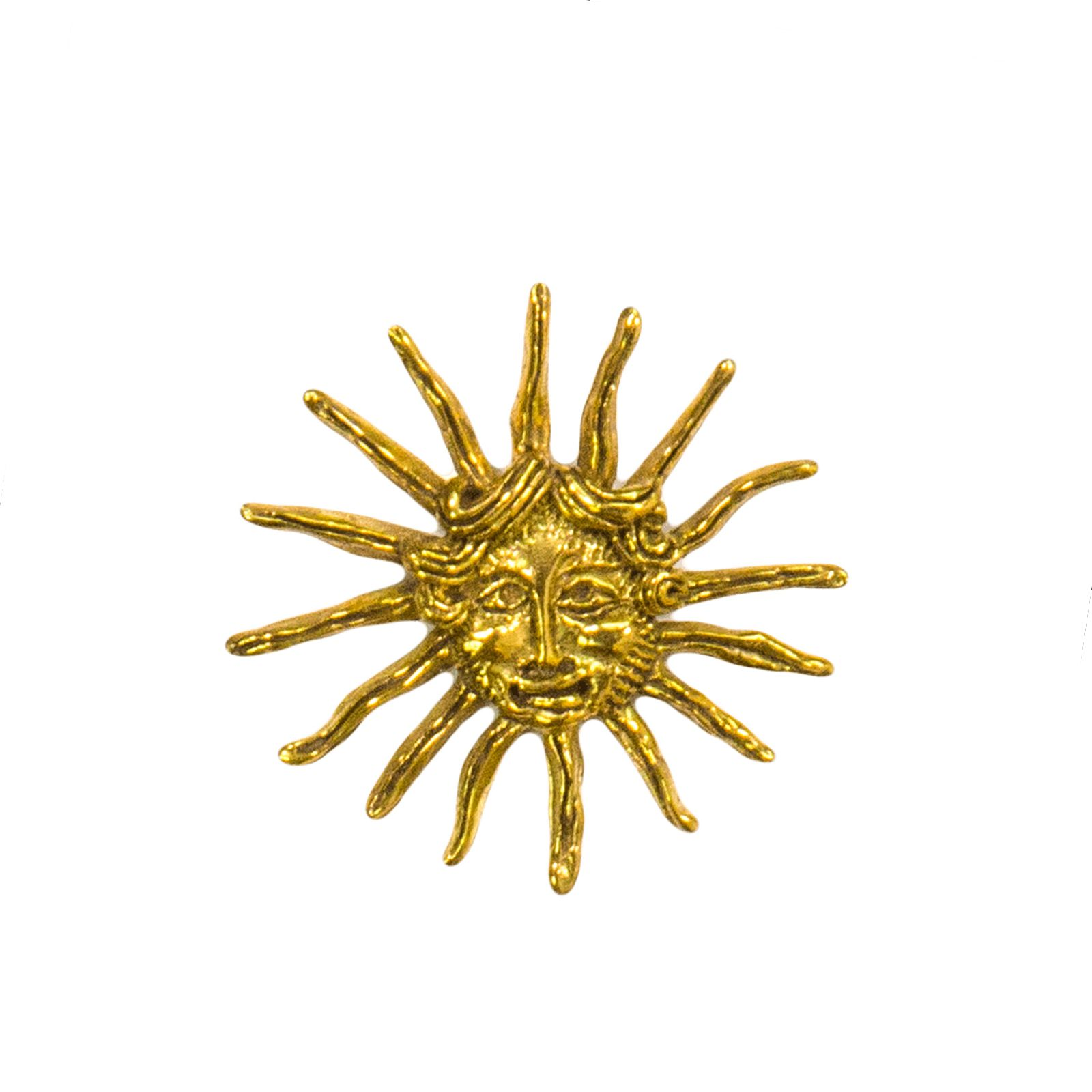 La Belle Artifact Replica Sun King Symbol Bronze Pin