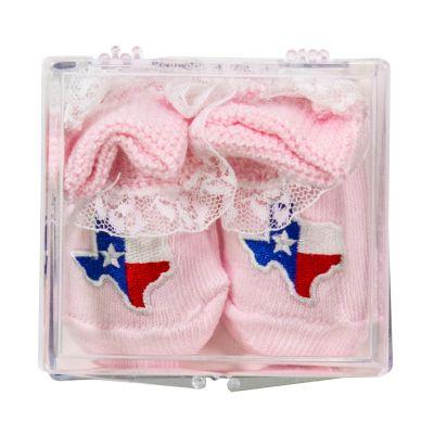 Pink Lace Booties with Shape of Texas