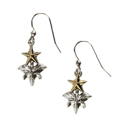 Texas Capitol Fence Finial Sterling Silver Earrings