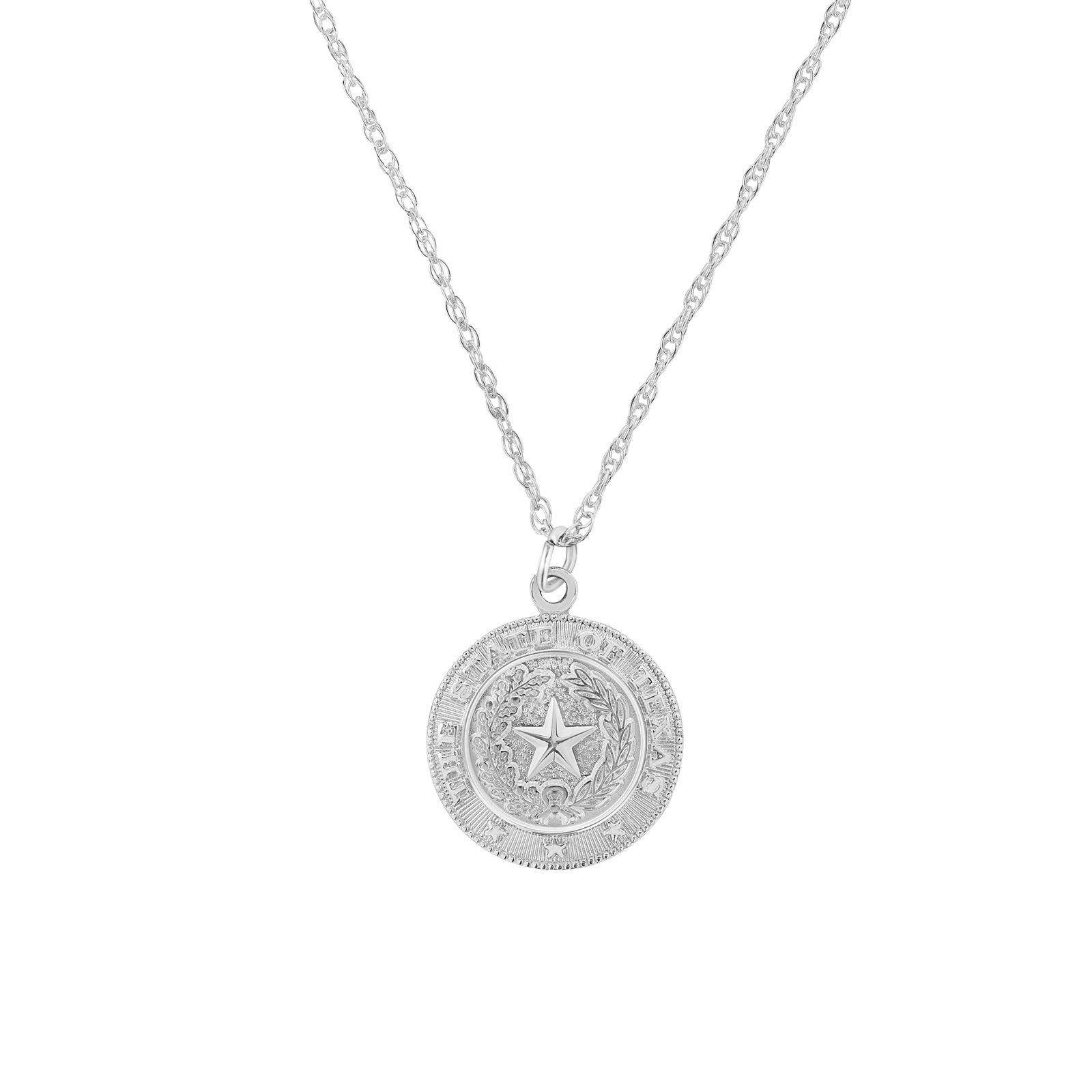 Texas State Seal Silver-Plated Pendant Necklace