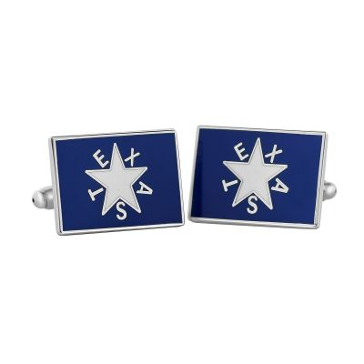 First Flag of the Republic of Texas Blue Cuff Links