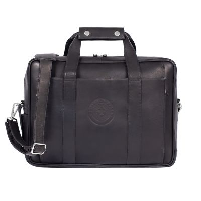 Black Leather Computer Briefcase