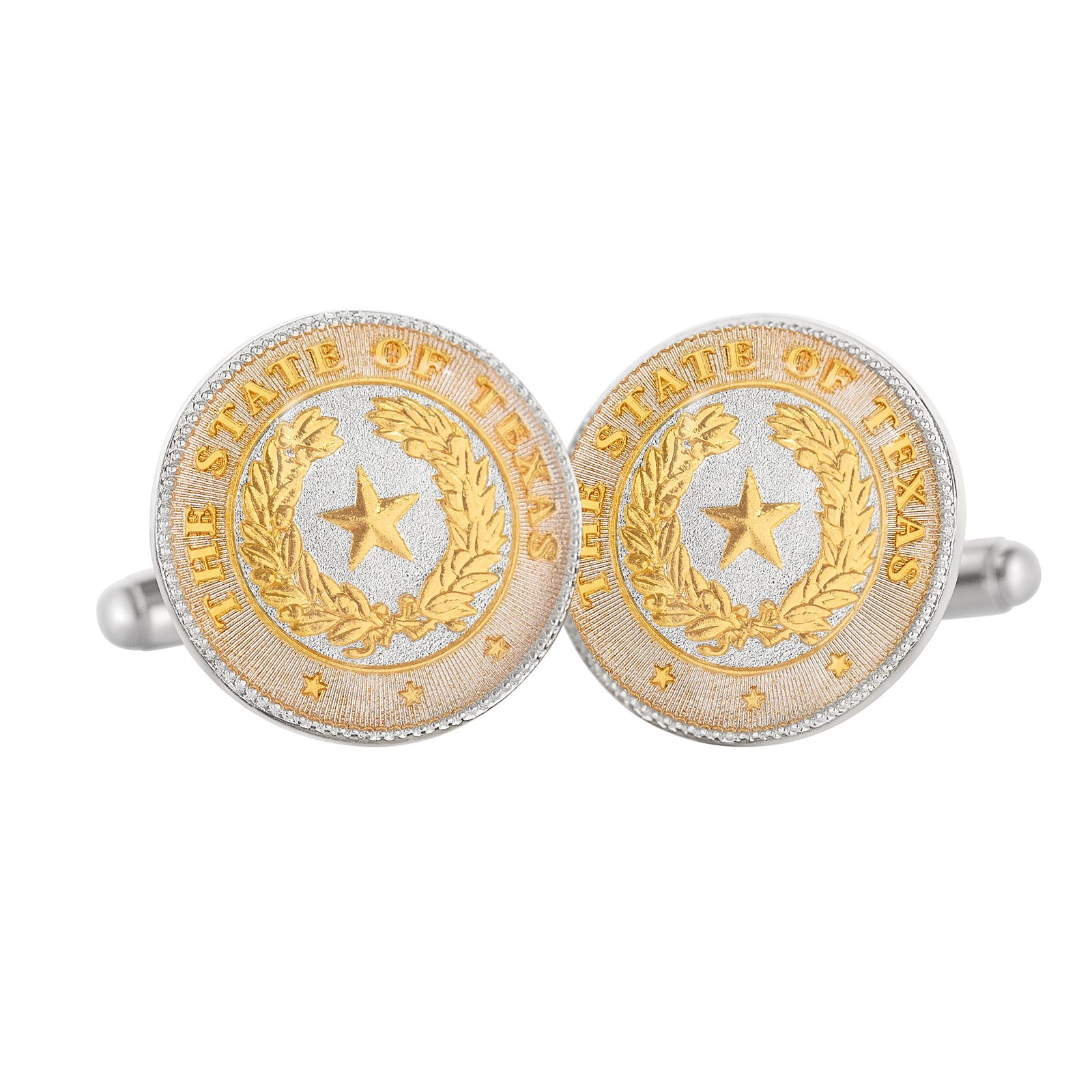 Texas State Seal Duo-Tone Cuff Links