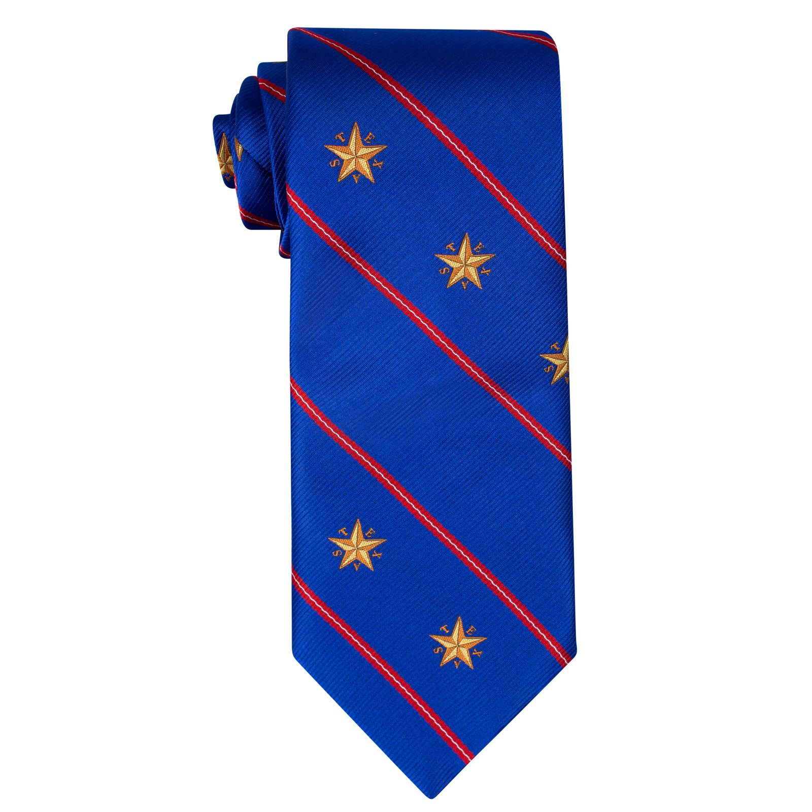 Star of Texas Capitol Blue Silk Tie