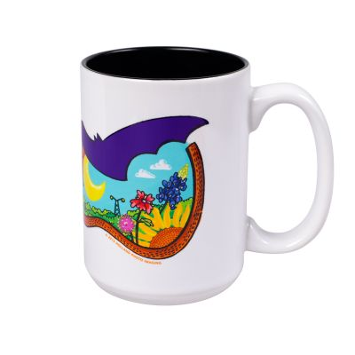 Austin Skyline Guitar Ceramic Mug