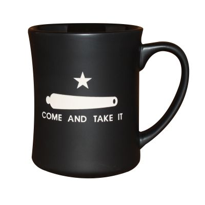 Gonzales Flag Deep Etched Matte Black Mug