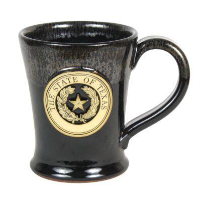 Silver Texas State Seal Stoneware Mug