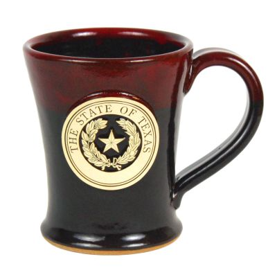 Cherry Red Texas State Seal Stoneware Mug