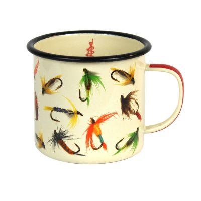 Enamel Fly-Fishing Mug