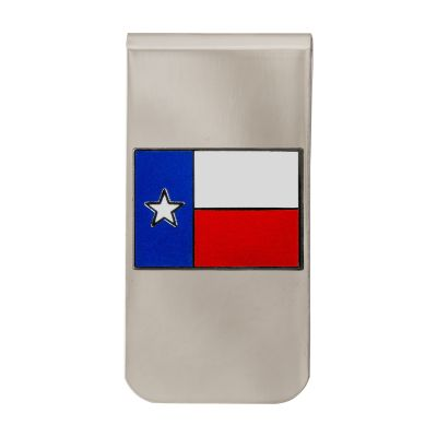 Texas State Flag Silver Tone Money Clip