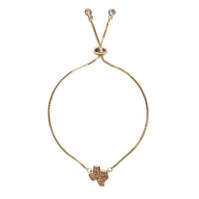 Texas Rose Gold Druzy Bracelet