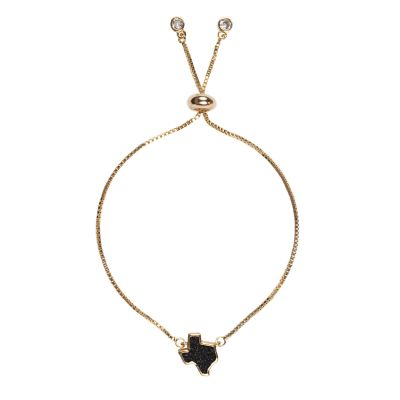 Texas Black Druzy Bracelet