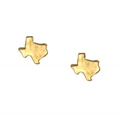 Texas Gold Stud Earrings