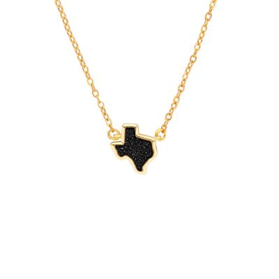 Texas Black Druzy Necklace