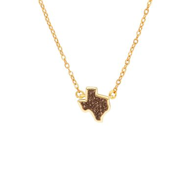 Texas Rose Gold Druzy Necklace