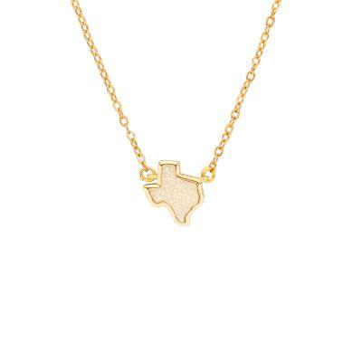 Texas White Druzy Necklace