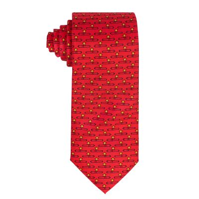 Gonzales Flag Canon Red Silk Tie