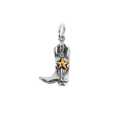 Cowboy Boot with Star Sterling Silver Charm