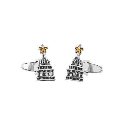 Texas Capitol Dome with Star Sterling Silver Cuff Links