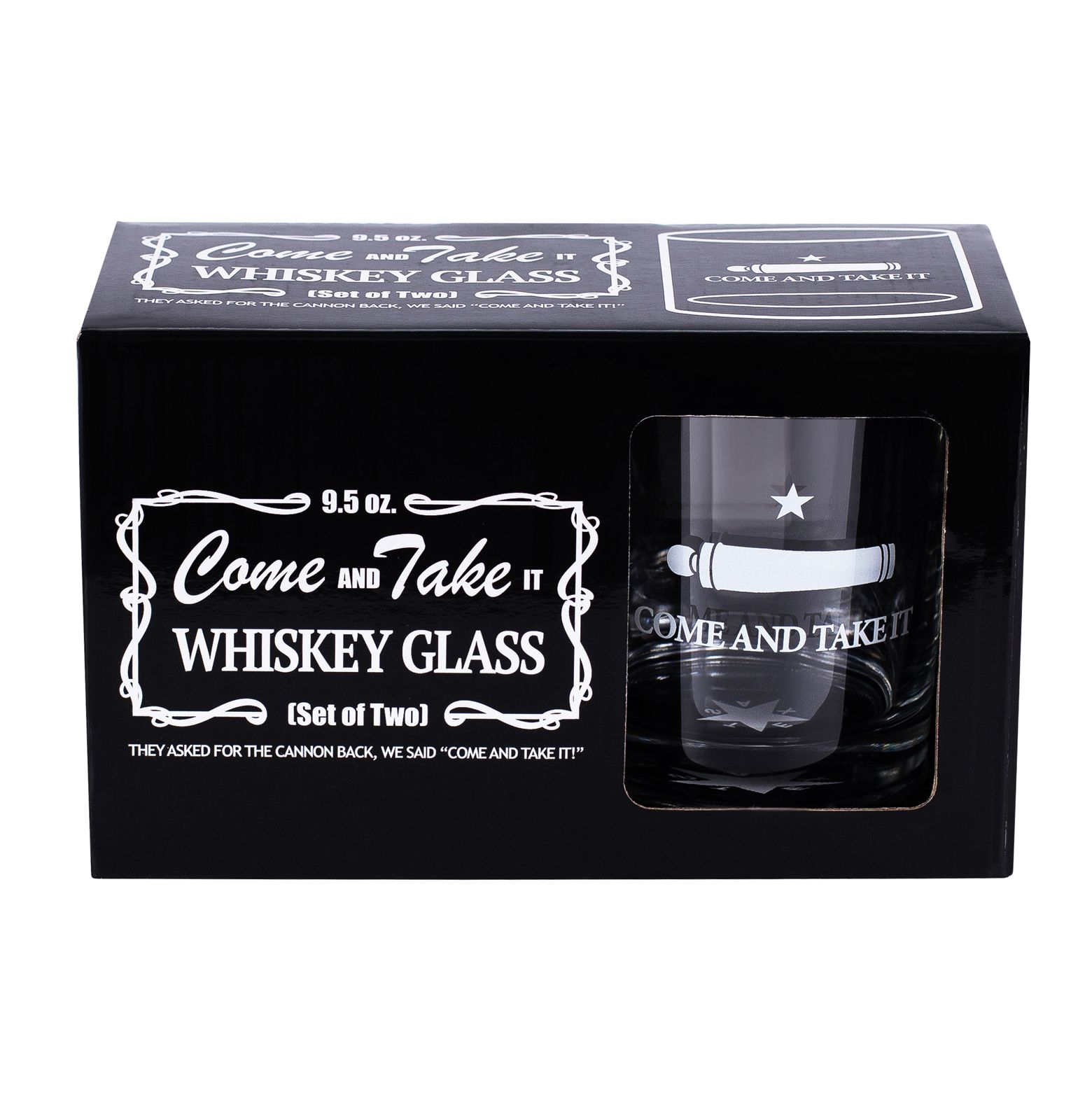 Gonzales Flag Whiskey Glass Set